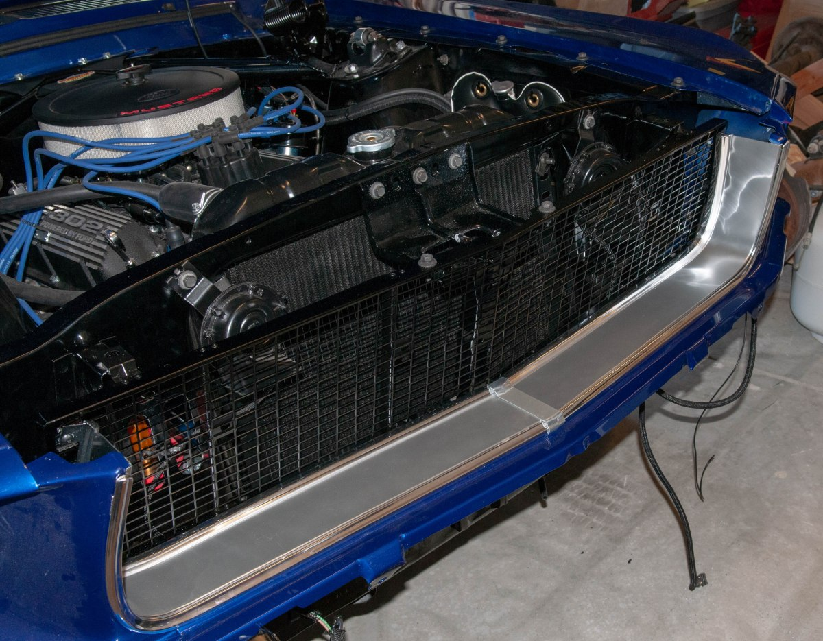 Stone guard and grille brad albrechts mustang restoration projects publicscrutiny Image collections